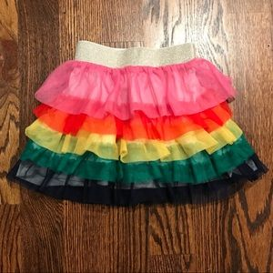 Hanna Andersson Rainbow Ruffle Tulle Skirt